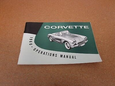1960  60   CORVETTE  OWNERS MANUAL