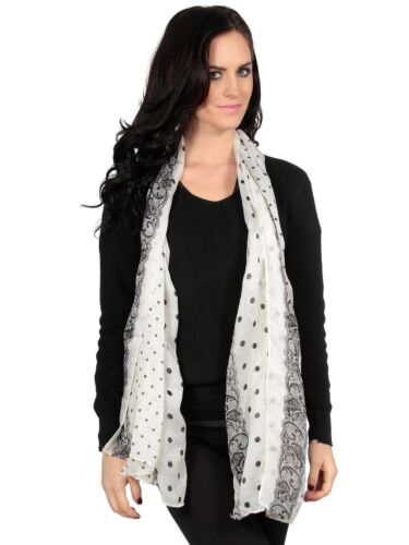 Fashion Lightweight Polka Dots Voile Long Soft Neckchief Scarf for Women//Ladies