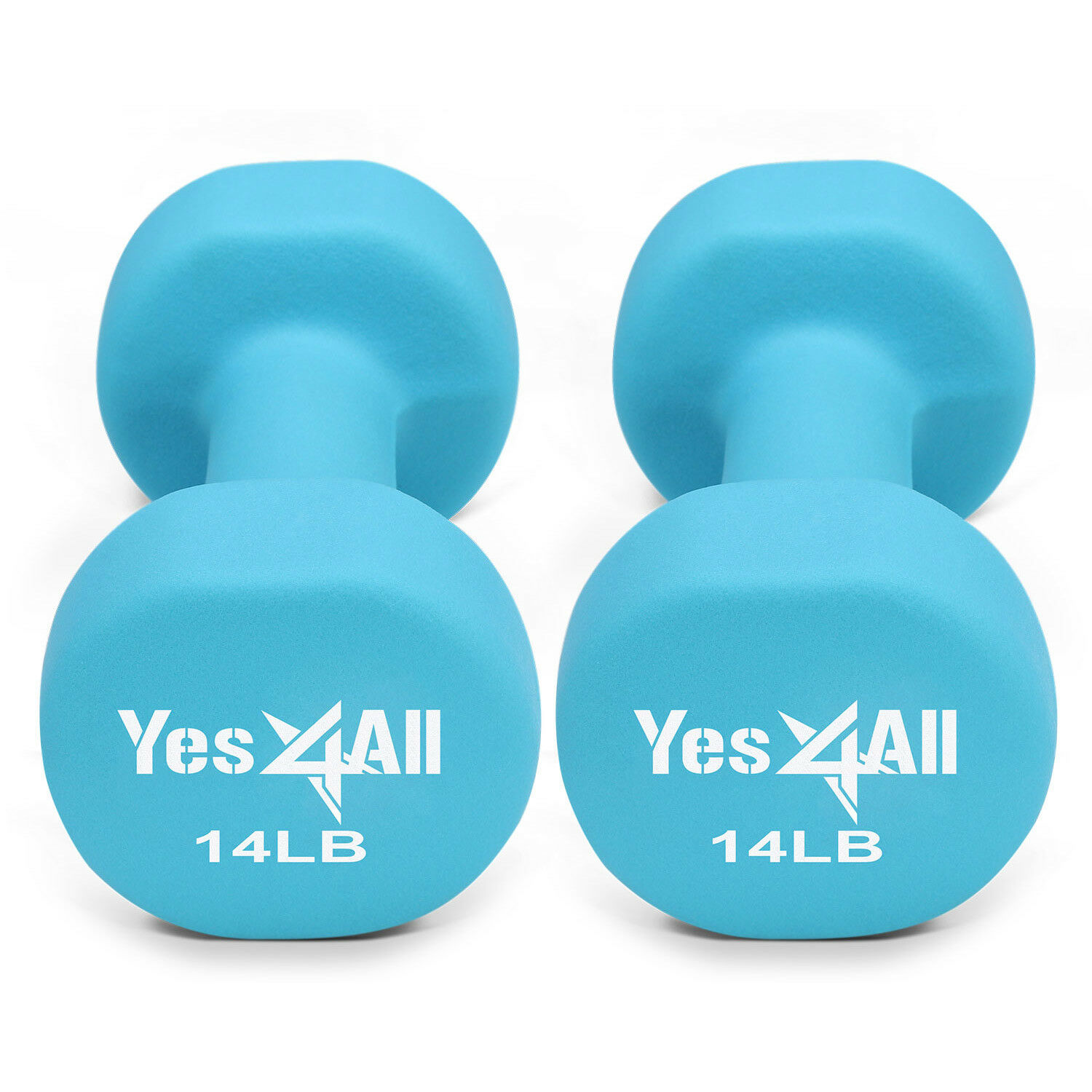 Yes4All 14 lb Dumbbell Weight Set with Non-Slip  Grip - Neoprene Dumbbell Pair²3D  more affordable