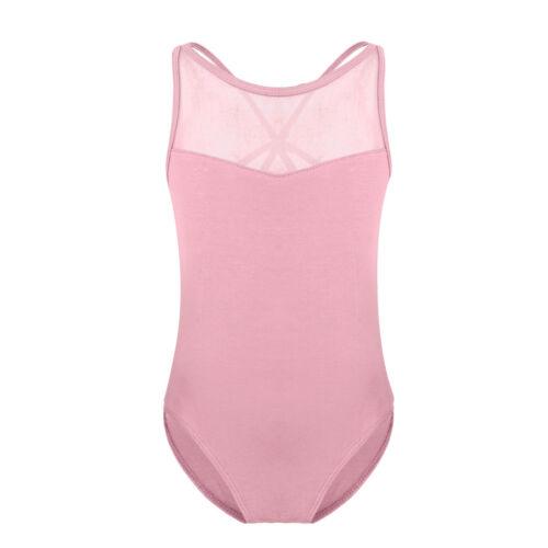 2-14 Aged Girls Gymnastics Slim Bodysuit Ballet Dance Dress Leotard Tutu Skirt
