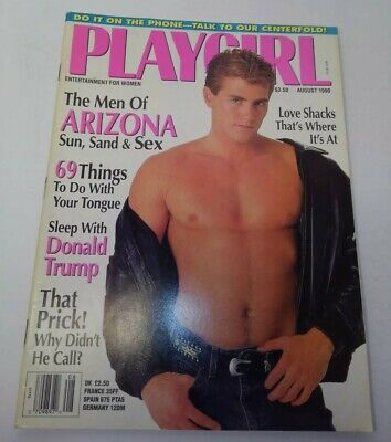 PLAYGIRL magazine August 1990 with Paul Penley cover