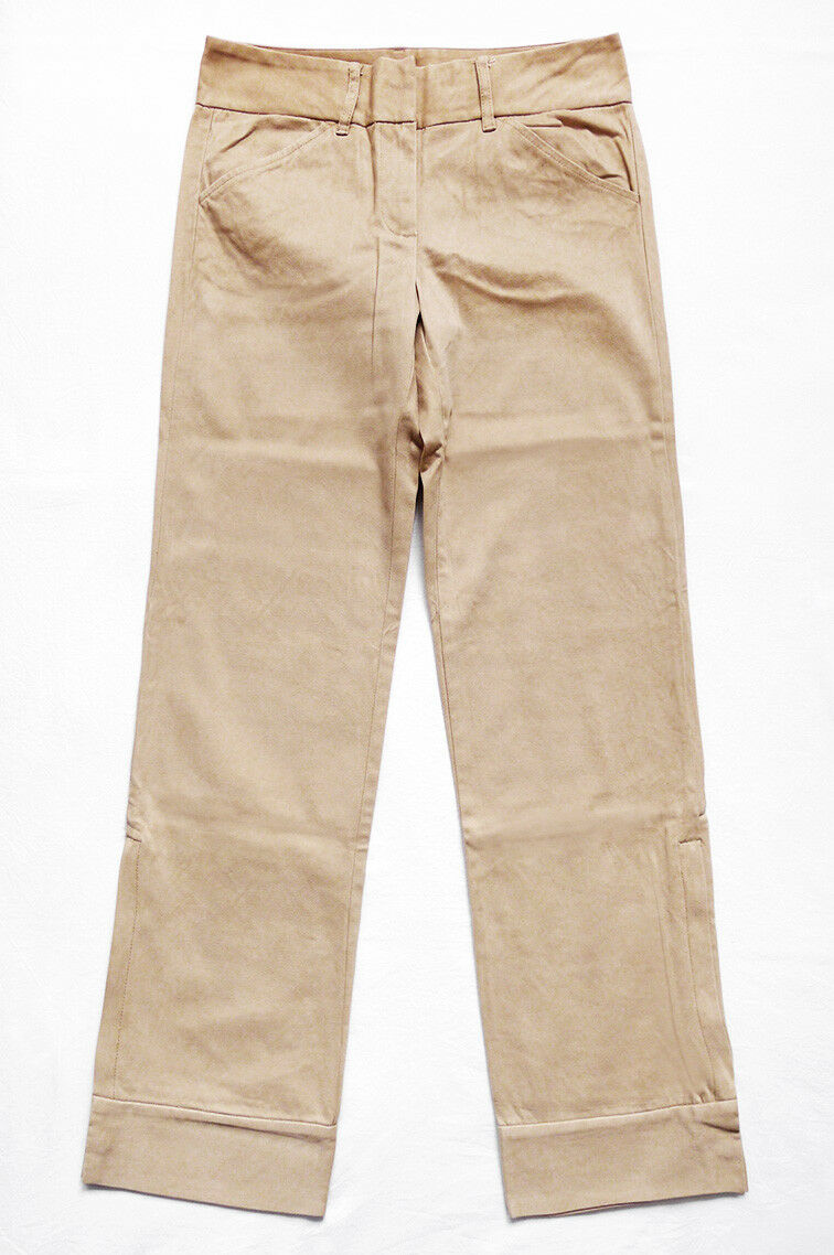 NWOT J.CREW High Waist Rise Straight Pants Trousers Ankle Zip Snap Sz 4 30 x30