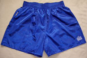 Blue-Satin-Nylon-Soccer-Shorts-by-Admiral-Men-039-s-Large-NEW