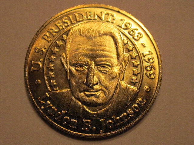 US President Lyndon B Johnson Sunoco Presidential Coin Series 2000 token