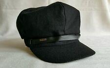 Nine West black wool blend newsboy hat beret