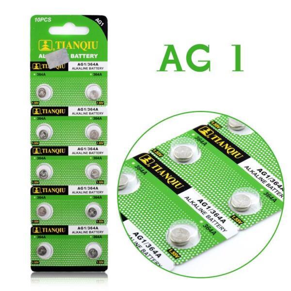 10 X Ag1 Batteries Lr621/lr60 Sr621 1.55v Quality Alkaline Button / Coin Cells
