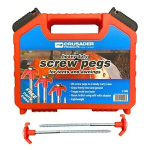 10-50Pcs Glow In Dark  Drill Screw In Ground Tent Pegs Camping Awning Stakes