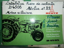 DEUTZ tracteur D4505 4505 : catalogue de pièces A5