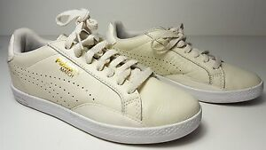 ff7fed9f49e9 size 5.5 Puma Match Lo Marshmallow Leather Tennis Running Sneakers ...