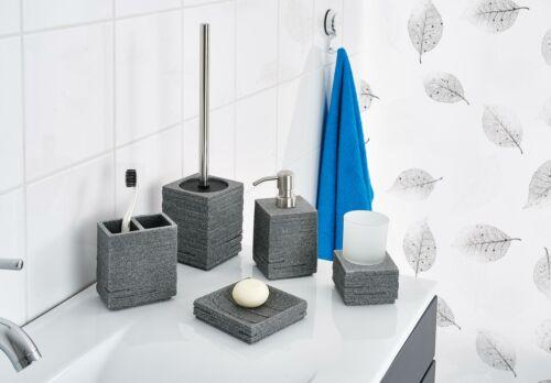RIDDER Seifenschale Brick grau ca 11,3 x 11,3 x 2,7 cm Seifenablage Bad Deko