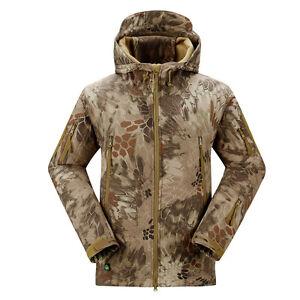 Mens Outdoor Jackets Waterproof TAD Coats Shark Skin Soft Shell Hoodie Hunting