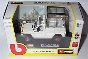 MERCEDES-BENZ-230-GE-papamobile-pape-echelle-1-43-New-in-Box-BURAGO-31018
