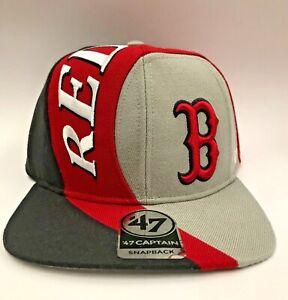 Genuine '47 Forty Seven Brand SNAPBACK HAT BOSTON RED SOCKS BASEBALL CAP NEW OSA