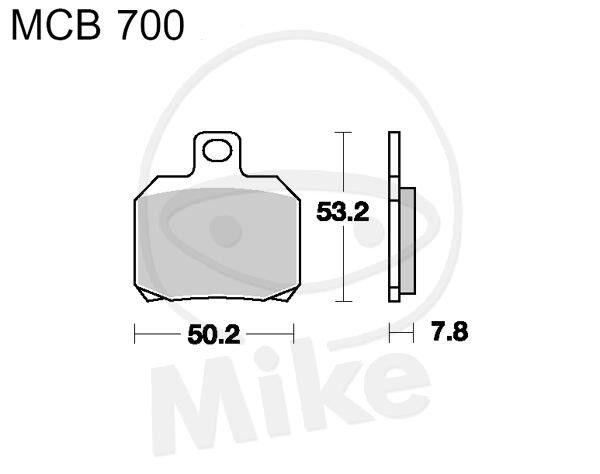 TRW Lucas Brake Pads mcb700 Rear Aprilia RSV 1000 R