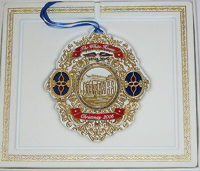 White House Christmas Ornament 2006 NIB Historical Assoc Gold Tone Metal Eagle