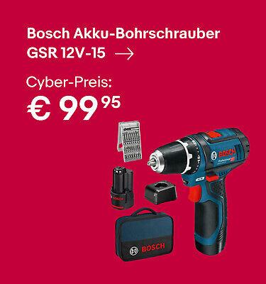 Bosch Akku-Bohrschrauber GSR 12V-15