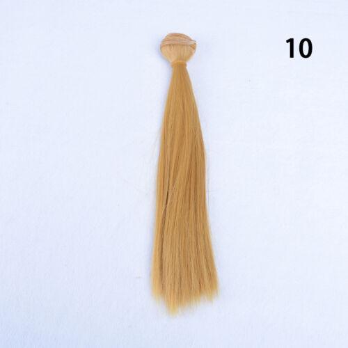 25cm*100cm High-temperature Wire DIY Straight Hair Wig Piece1//3 1//4 1//6 BJD Doll