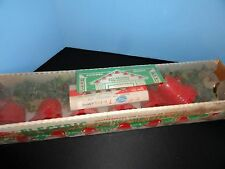 CHRISTMAS Yule-Glo 7 Red Plastic Twinkling LIGHT Bells GARLAND VINTAGE
