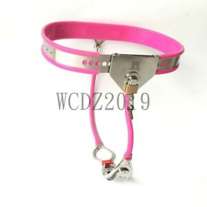 New Female Chastity Belt Device Fully Adjustable SPLIT Hole Stopper Removable