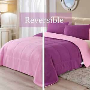 Exclusivo-Mezcla-Lightweight-Reversible-2-Piece-Comforter-Set-for-All-Seasons-D
