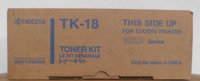 Original Kyocera  TK-18 Tobner black  für FS 1018 1020 1118   OVP B