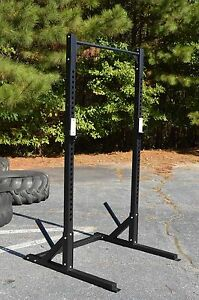 Half Rack With Pull Up Bar Commercial Grade Heavy Duty