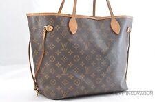 Authentic Louis Vuitton Monogram Neverfull MM Tote Bag M40156 LV 34225