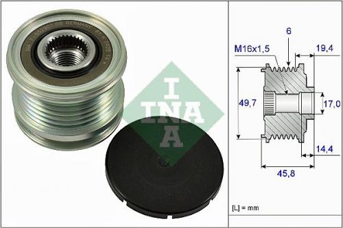 535 0047 10 Generatorfreilauf Freilauf Riemenscheibe Lichtmaschine INA
