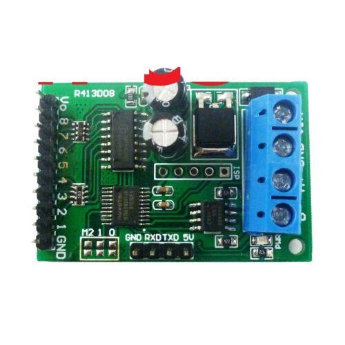 DC 5V 12V 24V 8ch RS485 Modbus RTU módulo de control para placa de interruptor de relé PLC en