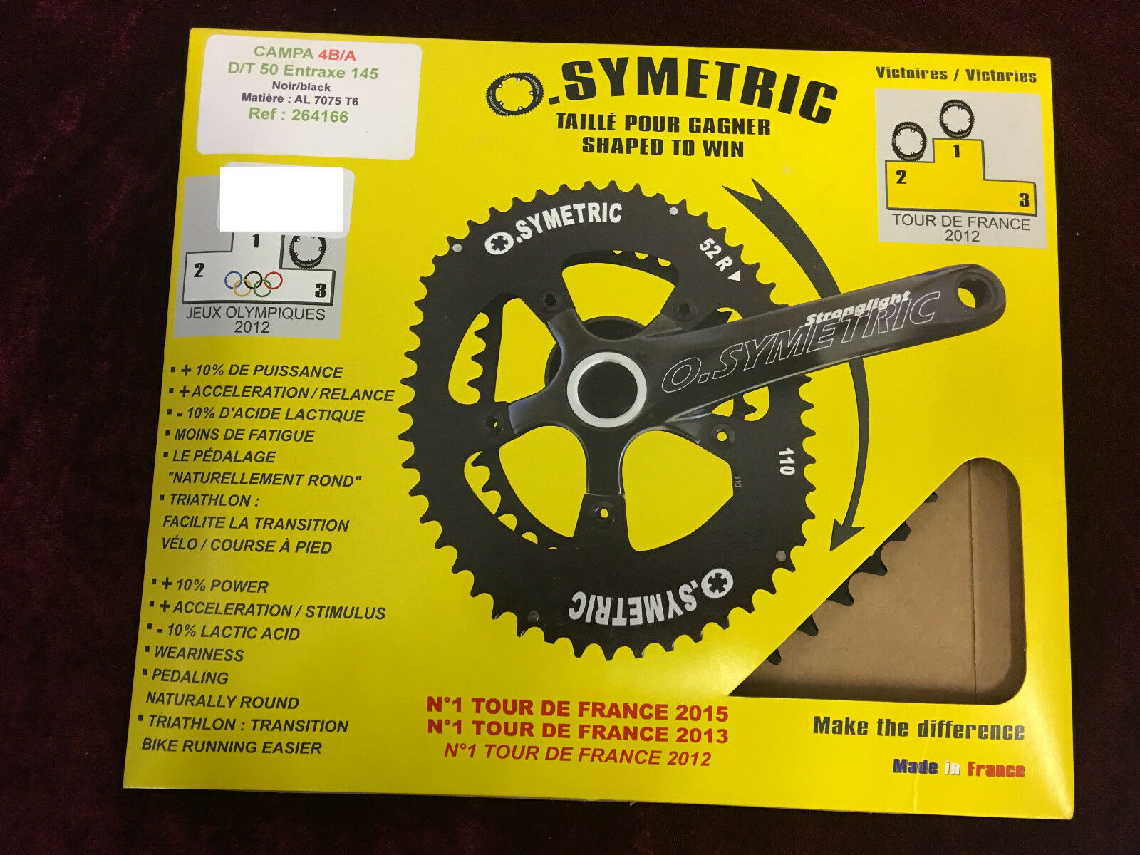 Osymetric BCD 145mm  x 4Bolt Campagnolo 11Speed Chainring Set  official website