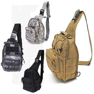 Mens Military Tactical Sling Chest Bag Assault Pack Crossbody Shoulder Bag  Daysacks