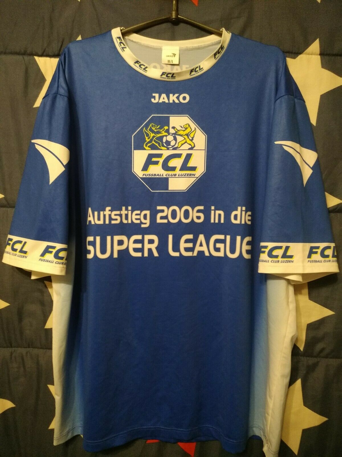 FC Luzern Switzerland Aufstieg 2006 In Die Super League Signed Football Shirt