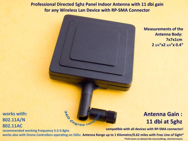 11dBi 5Ghz WLAN Wifi Panel Richtantenne Richtfunk Directed Antenna Long Range
