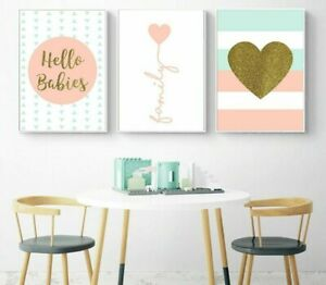 Details about Home Wall Paintings Decorative Family Canvas Posters Bedroom  Display Picture Art