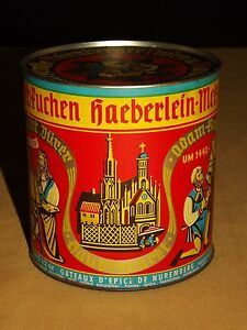 VINTAGE-CHRISTIAN-GERMAN-JESUS-MARY-HAEBERLEIN-METZGER-SPICED-CAKES-TIN-CAN
