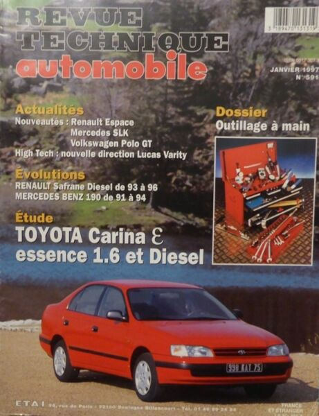 Liberaal Toyota Carina E Essence 1.6 Et Diesel Revue Technique Rta 591 1997 Mercedes 190