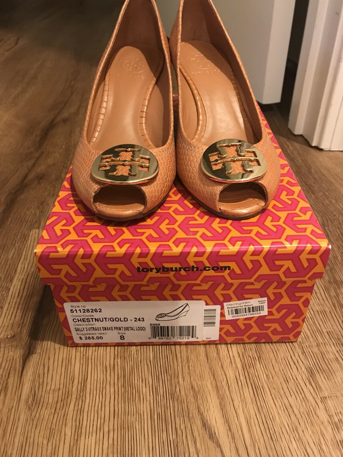 Tory Burch Wedge Peep Toe shoes