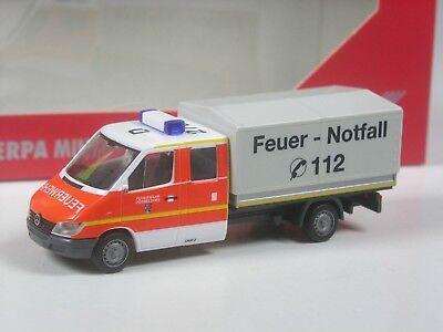 Herpa MB Sprinter Doka Pritsche Katastrophenschutz NRW in OVP neu 1//87