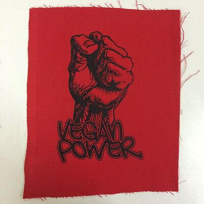 BACK PATCH cruelty free animal rights peace vegetarian vegan VEGAN POWER