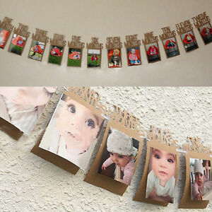 Diy Baby Birthday Recording 1 12 Month Photo Frame Banner Monthly
