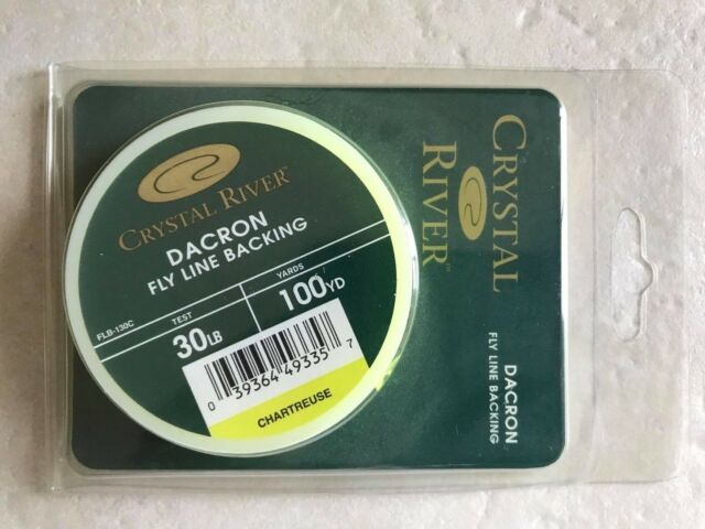 CRYSTAL RIVER Dacron Fly Line Backing 30 lb x 100 yd Chartreuse FLB-130C fishing