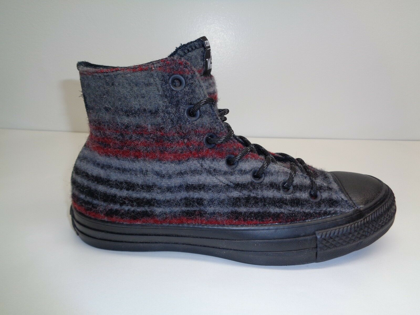 Converse Size 9 STREET HIKER HI WOOLRICH Dolphin Wool Sneakers New Unisex Shoes