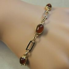 9 ct GOLD second hand cornelian stone bracelet