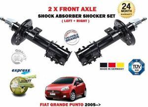 Pour-Fiat-Grande-Punto-199-2005-gt-Neuf-2X-avant-Gauche-Droit-Amortisseurs