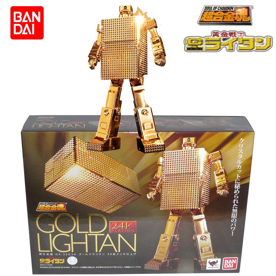 Bandai Tamashii Soul Of Chogokin GX-32G24 Chapado en oro Lightan 24K Figura De Acción