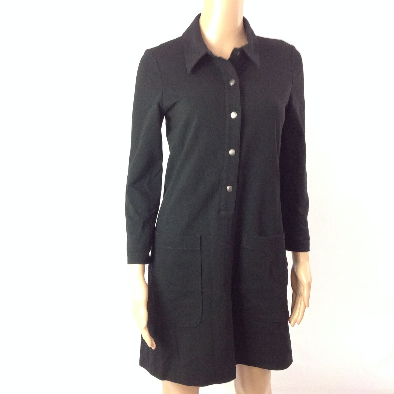 Theory F60 damen Shift Dress Long Sleeve schwarz Größe S StyleF0726612 Work