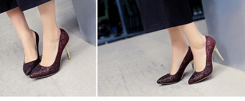 d é collte collte é chaussures cour chaussures femme talon nip 9 cm stiletto strass Rose  9174 00ba82