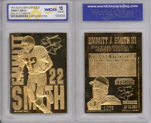 1995-EMMITT-SMITH-DALLAS-COWBOYS-23K-GOLD-SCULPTURED-CARD-GEM-MINT-10