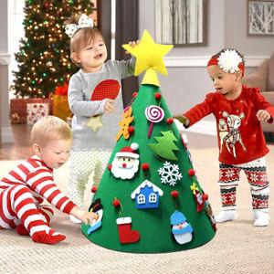 DIY-3D-conique-sapin-de-Noel-arbre-Noel-enfant-Decorations-faits-a-la-main-BM