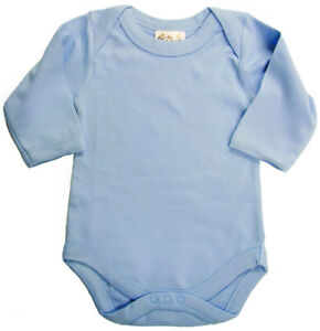 SALE-ITEM-5-pack-of-Baby-Long-Sleeve-Bodysuits-in-Blue-Size-0-3-Months